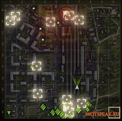 Поваленные деревья и разрушенные объекты на миникарте для World of tanks 1.3.0.1 WOT