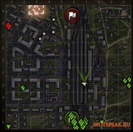 Поваленные деревья и разрушенные объекты на миникарте для World of tanks 1.10.0.0 WOT