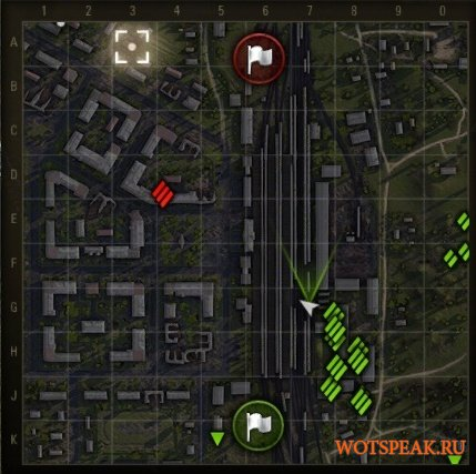Поваленные деревья и разрушенные объекты на миникарте для World of tanks 0.9.19.1.2 WOT