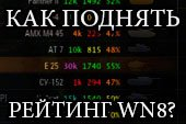 Как поднять рейтинг эффективности WN8 World of tanks.