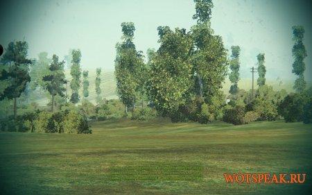 Мод Тундра - убираем кроны деревьев, удаляем листву для World of tanks 1.5.1.1 WOT (+вариант с черным небом)