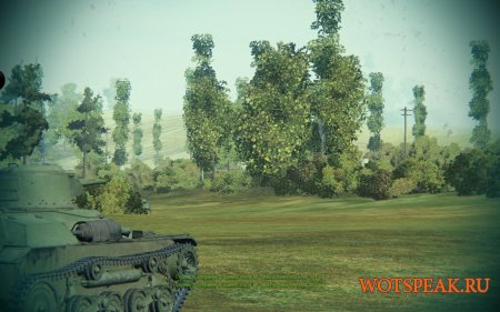 Мод Тундра - убираем кроны деревьев, удаляем листву для World of tanks 1.1.0.1 WOT (+вариант с черным небом)
