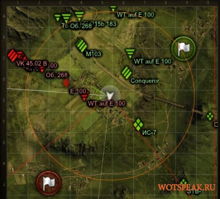 Улучшенная миникарта без XVM для World of tanks 1.4.1.0 WOT