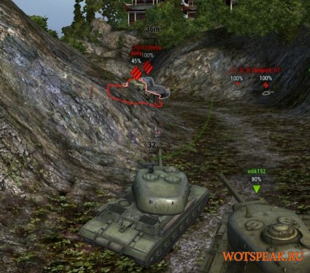 Мод рентген (контуры танков) скачать для World of tanks 0.9.17.1 WOT