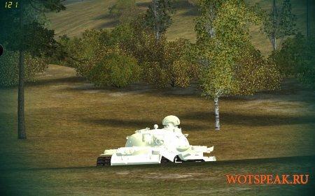 Белые трупы танков мод для WOT 1.0.2.4 World of tanks