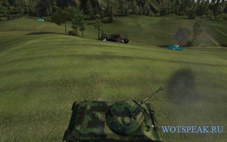 Синие трупы и белые сбитые гусли World of tanks 1.0.2.4 WOT