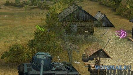 Трехцветное направление доступной цели от lportii для World of tanks 0.9.17.1 WOT