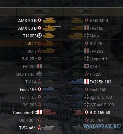 Мод на цветные иконки танков для World of tanks 1.0.2.1 WOT