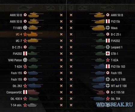 Мод на цветные иконки танков для World of tanks 1.6.1.4 WOT