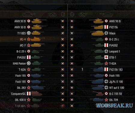 Мод на цветные иконки танков для World of tanks 1.9.1.2 WOT
