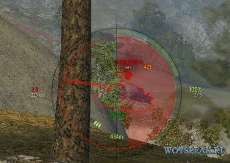 Прицел как у Дезертода - снайперский и аркадный прицел Desertod World of tanks 0.9.19.0.2 WOT (2 версии - ENG + RUS)