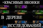 Цветные иконки танков в ветке исследований и послебоевой статистике World of tanks 1.1.0.1 WOT