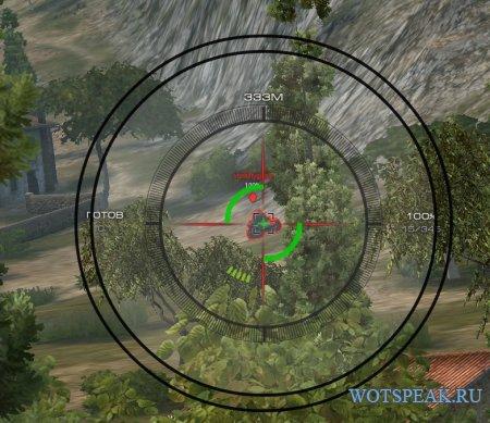 Меткий черный прицел для World of tanks 1.2.0.1 WOT (RUS+ENG версии)