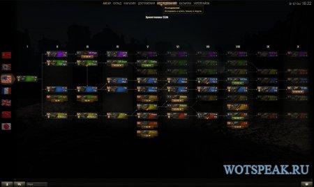 Цветные иконки танков в ветке исследований и послебоевой статистике World of tanks 1.3.0.0 WOT (несколько вариантов)
