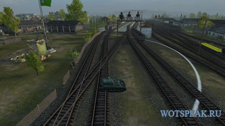Заметные вагоны и ЖД платформы для World of tanks 1.7.0.2 WOT