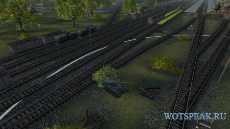 Заметные вагоны и ЖД платформы для World of tanks 1.3.0.1 WOT