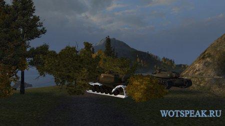 Сбитые гусеницы белым цветом для World of tanks 1.0.2.4 WOT