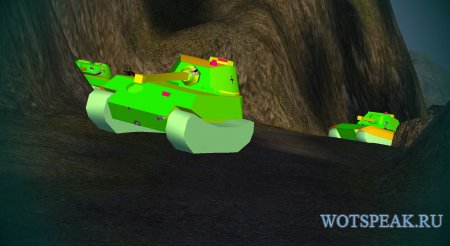 Мод Хамелеон - 3D шкурки танков врагов для World of tanks 1.10.0.0 WOT (2 варианта)