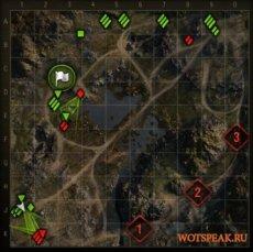 Мод на направление стволов противников на миникарте для World of tanks 0.9.19.1.2 WOT