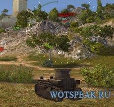 Автоприцел с индикацией врага и захватом цели за препятствием для World of tanks 1.0.2.4 WOT