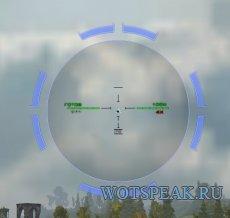 Прицел Bushmaster с отображением толщины брони для World of tanks 0.9.22.0.1 WOT (RUS+ENG версии)