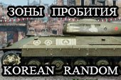 Шкурки с зонами пробития для танков Korean Random под WOT 0.9.19.1.2 World of Tanks