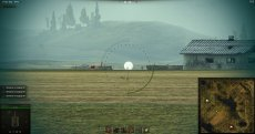 Белый круг в месте попадания в танк врага без засвета для World of tanks 1.6.0.7 WOT