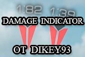 Мод на индикатор урона от dikey93 для World of tanks 0.9.19.1.2 WOT (2 варианта)