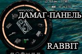 Круглая панель повреждений Rabbit для World of tanks 1.0.2.2 WOT