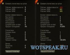 Статистика за сессию для World of tanks 1.0.0.3 WOT (8 вариантов)