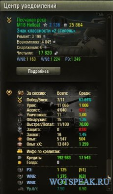 Статистика за сессию для World of tanks 1.6.1.4 WOT (8 вариантов)