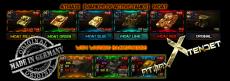 Цветная подсветка выбранного танка в карусели для World of Tanks 1.2.0.2 WOT (много вариантов)