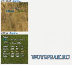 Информационная панель текущей цели для World of tanks 1.7.0.2 WOT (много вариантов)