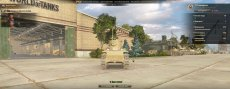 Праздничный ангар в промышленной зоне к юбилею WG для World of tanks 0.9.22.0.1 WOT