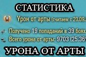 Мод подсчета статистики полученного урона от артиллерии для World of tanks 1.0.2.1 WOT