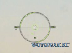 Удобный светло-зеленый прицел CircleCross для World of tanks 0.9.19.1.2 WOT (2 версии - ENG + RUS)