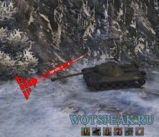 Красно-желтый индикатор направления урона для World of tanks 1.7.0.2 WOT