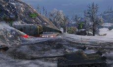 Точное отображение направления урона - индикатор для World of tanks 0.9.21.0.3 WOT