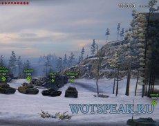 Мод: часы в бою для World of tanks 0.9.19.1.2 WOT (2 варианта)