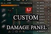 Custom Damage Panel - простая панель повреждений для World of tanks 0.9.20.1 WOT (3 варианта)