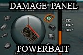 Панель повреждений PowerBait для World of tanks 1.0.2.1 WOT