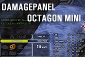 Компактная панель повреждений Octagon Mini для World of tanks 0.9.22.0.1 WOT