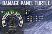 Панель повреждений Turtle для World of tanks 0.9.19.1.2 WOT