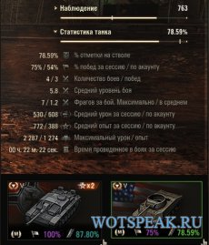 """Мод """"Потерянное время"""" - лучшая сессионная статистика для World of tanks"""