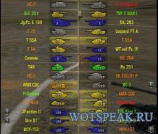 Иконки танков от shefer (4 вида) для World of Tanks 0.9.21.0.1 WOT