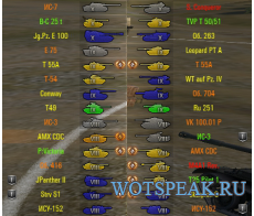 Иконки танков от shefer (4 вида) для World of Tanks 1.0.1.1 WOT