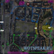 Тактическая миникарта перед началом и во время боя для World of tanks 0.9.22.0.1 WOT