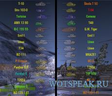 Иконки танков от shefer (4 вида) для World of Tanks 0.9.22.0.1 WOT