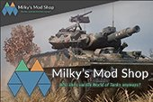 Сборка моделей и шкурок Milky's Mod Shop для World of tanks 0.9.22.0.1 WOT