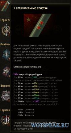 Мод показа процента отметки на орудие в бою для World of tanks 1.5.0.4 WOT (2 варианта)